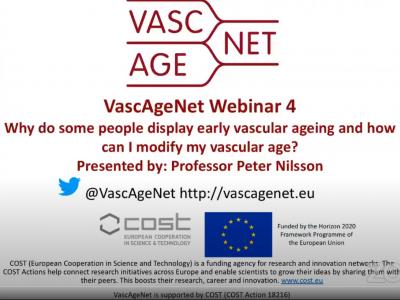 Fantastic webinar on vascular ageing given by Professor Nilsson