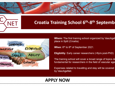 Application for the first VascAgeNet Training School is open now!